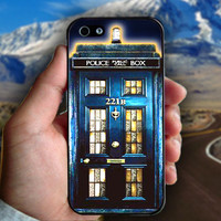 Tardis Doctor Who Sherlock Holmes - Print on hard plastic case for iPhone case. Select an option