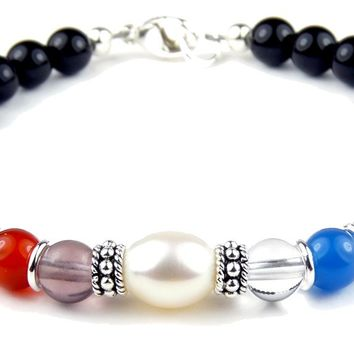 Pearl Sobriety Bracelets, AA 1 Year Anniversary, June 12 Step Gifts Recovery Jewelry by SobrietyStones