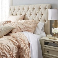 Audrey Upholstered Flax Headboard