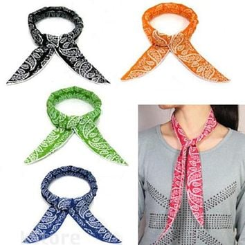 5 Colors Cooler Scarf For Women Refreshing Non-toxic Neck Body Ice Cool Cooling Wrap Tie Headband Bandana Wrist Towel