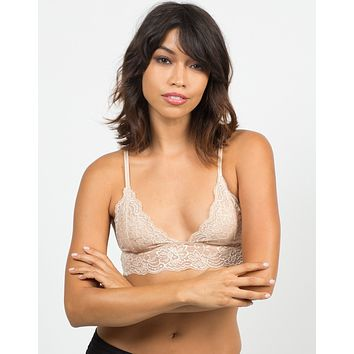 Triangle Lace Trim Bralette