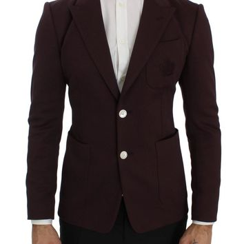 Purple Royal Crown Slim Fit Blazer Jacket