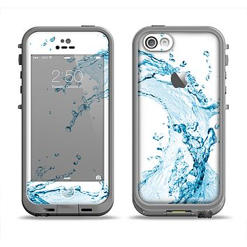 The Water Splashing Wave Apple iPhone 5c LifeProof Fre Case Skin Set