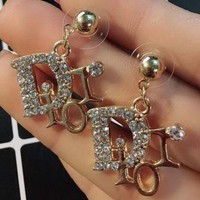 Dior temperament female earrings lively personality creative long style fashion trend hipster