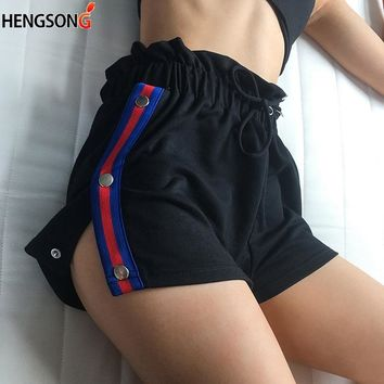 Women Sports Running Shorts Split Quick Dry Breathable Workout Gym Pocket Tennis Shorts Summer Training Short Woman Fitness