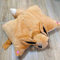 Pokemon Eevee Transforming Cushion 16'' Stuffed Toy Plush Pillow Kids Gifts