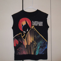 Vintage 1992 Batman Animated Series sleeveless t-shirt tank top DC Comics small XS