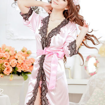 Lace Sleepwear Robes Pajama Shirt Sleep Dress Nightdress Nightwear Nightgown