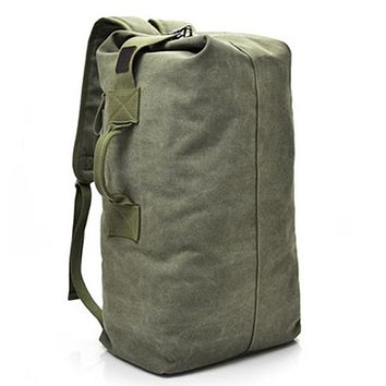 Military Grade Canvas Backpack / Outdoor Sports Duffle Bag