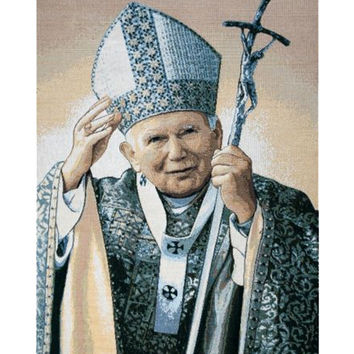 Papa Wojtyla Pope John Paul II Tapestry Wall Art Hanging