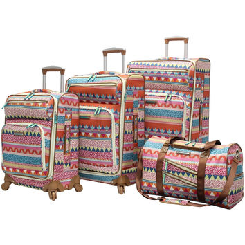 Lily Bloom 4 Piece Luggage Collection With Spinner Wheels (One Size On The Pr...