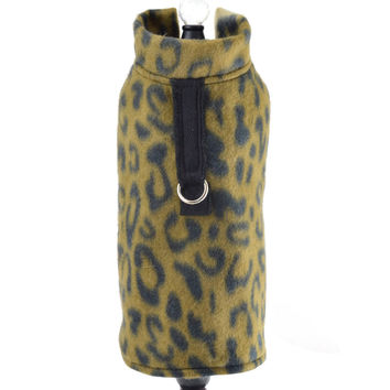 Leopard Fleece Dog Coat