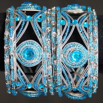 Indian Bangle Set With Stones & Moti. : Online Shopping, - Shop for great products from India with discounts and offers
