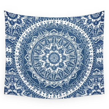 Society6 Blue Mandala Pattern Wall Tapestry