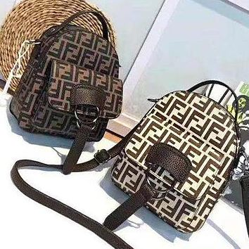FENDI Fashion Women Casual Bookbag Shoulder Bag Handbag Backpack