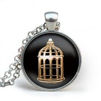 Bioshock Infinite Bird Cage Pendent Bioshock Infinite Bird Cage Necklace