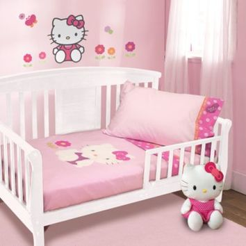 Lambs & Ivy® Hello Kitty Garden 4-Piece Toddler Set