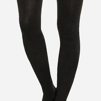 DailyLook: Basic Thigh High Socks in Black One Size