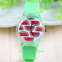 Women Jelly Watch Stylish Rubber Silicone Quartz Wrist Watch = 1956482308