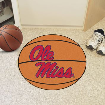 "Ole Miss Basketball Mat 27"" diameter"