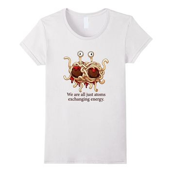 FSM Flying Spaghetti Monster Pastafarian Atomic Energy Shirt