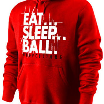 Hoop Culture Eat Sleep Ball Red White Hoodie