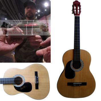 """Cody Alan Autographed Full Size 39"""" Country Music Acoustic Guitar, Proof Photo"""
