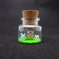Tiny My Neighbor Totoro Decorative Bottle Art