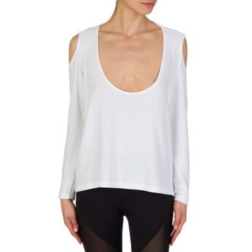 Varley White Euclid Cut-Out Top