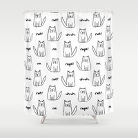 Little Cats with Bad Attitudes Shower Curtain by TigaTiga Artworks