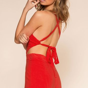 Lettie Romper - Red