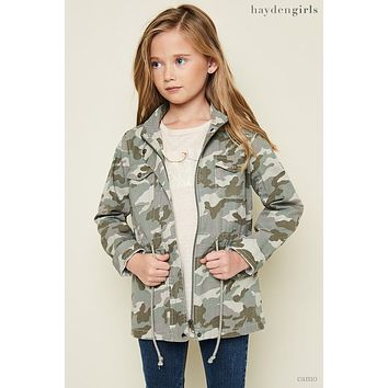 Hayden 2017 Fall Camo Cargo Jacket Green Mix