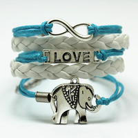 Tamika Elephant Jewelry Love Charm Engraved Bracelet
