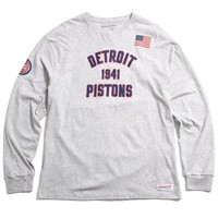 Detroit Pistons Established Year Longsleeve T-Shirt Heather Grey
