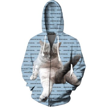 Scratch Post and Chill Zip Up Hoodie