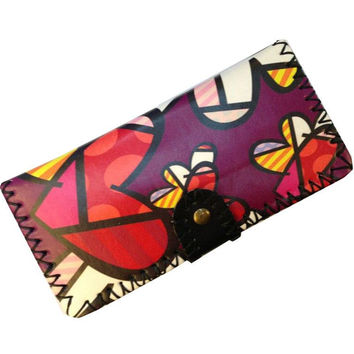 Handmade Designer Wallet Women iphone 6 Leather Bifold Wallet Purse Case Vintage Fashion Cartoon Korea Style Clutch Wallets