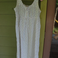 Vintage Laura Ashley Romantic Floral Prairie Nightgown Size Small