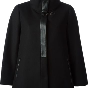 Fay placket detail cape coat
