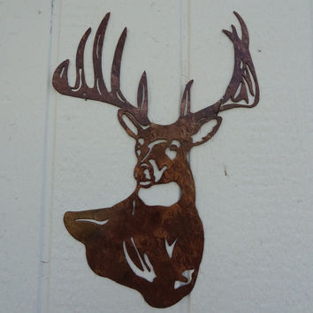 Deer Buck Head Metal Wall Art Home Decor