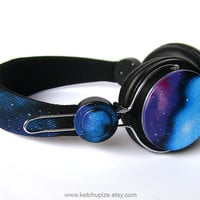 NEW Space Galaxy Nebula Custom headphones earphones hand painted