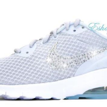 Light Grey Glitter Swoosh Nike Air Max Motion