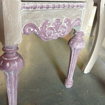 Painted furniture, desk, vanity, vintage, antique, painted desk, painted vanity, bedroom, girl upcycled