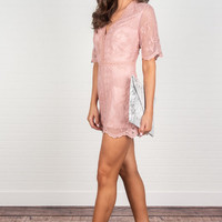 Flawless Drama Romper, Deep Blush