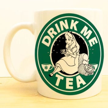 Alice in Wonderland Coffee Mug |  Drink Me Tea Starbucks |  Disney