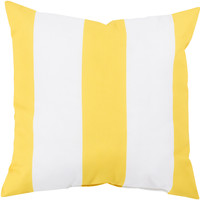 Surya Rain Awning Stripe Lemon Outdoor RG-157 Pillow