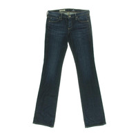 Adriano Goldschmied Womens Olivia Low-Rise Dark Wash Slim Bootcut Jeans