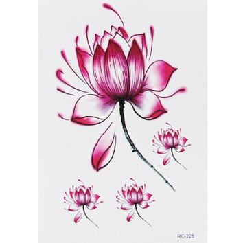 Free Shipping Peaceful Lotus Waterproof Temporary Tattoo Stickers for Shoulder Decoration #r116