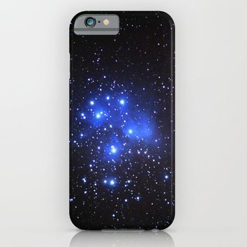 the Pleiades or Seven Sisters in Taurus iPhone & iPod Case by Guido Montañés
