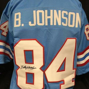 ONETOW Billy 'White Shoes' Johnson Signed Autographed Houston Oilers Football Jersey (JSA COA)