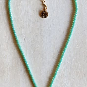 Bead Necklace - Gold Seashell by Sweet Lola